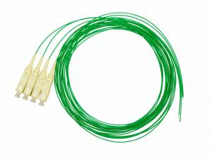 FO Pigtail SC, 50/125µm OM2, 2.0m, Easy Strip, green, 4pcs