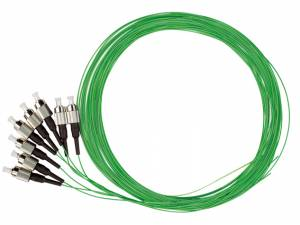 FO Pigtail FC, 50/125µm OM2, 2.0m, Easy Strip, green, 4pcs