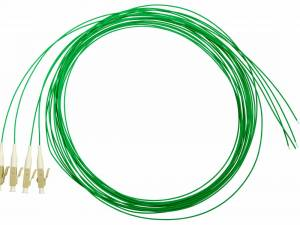 FO Pigtail LC, 50/125µm OM2, 2.0m, Easy Strip, green, 4pcs