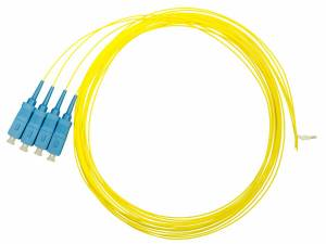 FO Pigtail SC, 9/125µm OS2, 2.0m, Easy Strip, yellow,4pcs