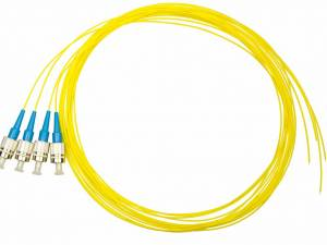 FO Pigtail FC, 9/125µm OS2, 2.0m, Easy Strip, yellow,4pcs