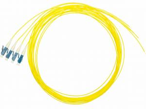 FO Pigtail LC, 9/125µm OS2, 2.0m, Easy Strip, yellow,4pcs