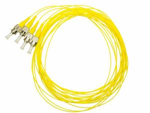 FO Pigtail ST, 9/125µm OS2, 2.0m, Easy Strip, yellow,4pcs