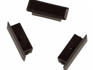 FO Blind cover for SC-Duplex cutout, black, 25 pcs.