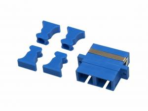 FO Coupler SC-Duplex,Plastic,Singlemode,zirconia,flange,blue