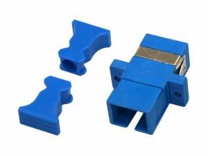 FO Coupler SC-Simplex, Plastic, Singlemode, zirc,flange,blue