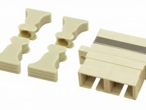 FO Coupler SC-Duplex, Plastic, Multimode, phbr, flange, grey