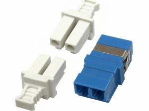 FO Coupler LC-Duplex,Singlemode,zirconia,without flange,blue