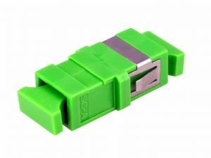 FO Coupler SC/APC-Simplex,  Singlemode, w/o flange,green,ECO