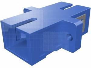 FO Coupler SC-Simplex,Plastic,Singlemode,zirc,flange,blueECO