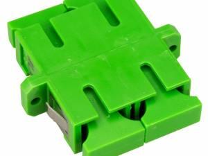 FO Coupler SC/APC-Duplex,Plastic,Singlemode,zirc,fl,greenECO