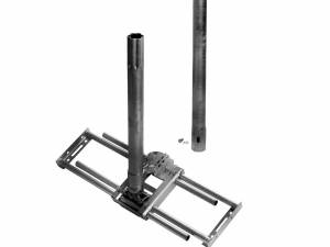 Rafter fastener Universal,incl.mast 1.100mm,horizontal,Steel