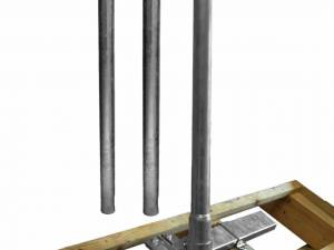 Rafter fastener Goliat, incl. mast 3.000mm, horizontal,Steel