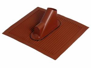 SAT Roof tile with cableentry,45x50cm,Mast:38-60mm, Alu, red