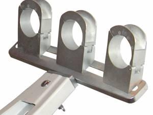 SAT LNB Holder Aluminium for 3 LNBs, Adjustable
