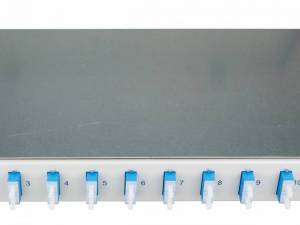 "FO Patchpanel 19"", 1U, sliding, for 8 fibers, SC, SM"