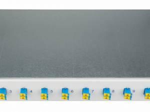 "FO Splicebox, 12 Fibers, LC, 9/125µm OS2, 19"", 1U, Class B"