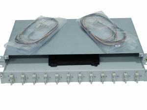 """FO Splicebox, 16 Fibers, SC, 50/125µm OM2, 19"""", 1U, Class B"""