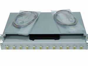 """FO Splicebox, 16 Fibers, LC, 62,5/125µm OM1, 19"""", 1U"""
