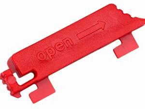IT METER LINE Locking Clips Red for C13 Socket Outlets,12pcs