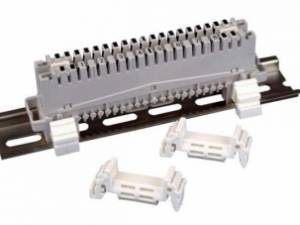 Telephony DIN-rail adapter for round rod modules 10/20-pairs