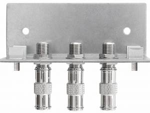 Earthing angles, 3 connectors, acc. to EN 60728-11, QEW3-12