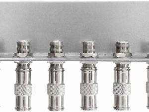 Earthing angles, 6 connectors, acc. to EN 60728-11, QEW6-12