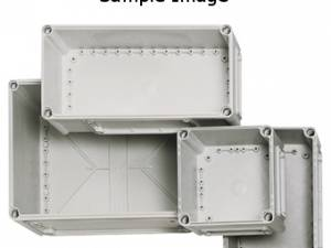 Cover 190x190x30 mm, transparent with cross-head screw