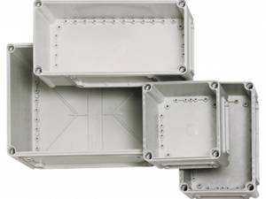 Cover 190x190x80 mm, transparent with cross-head screw
