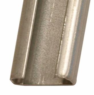 C-rail w/o slots, steel, 2000x21x8.5mm (LxWxH)