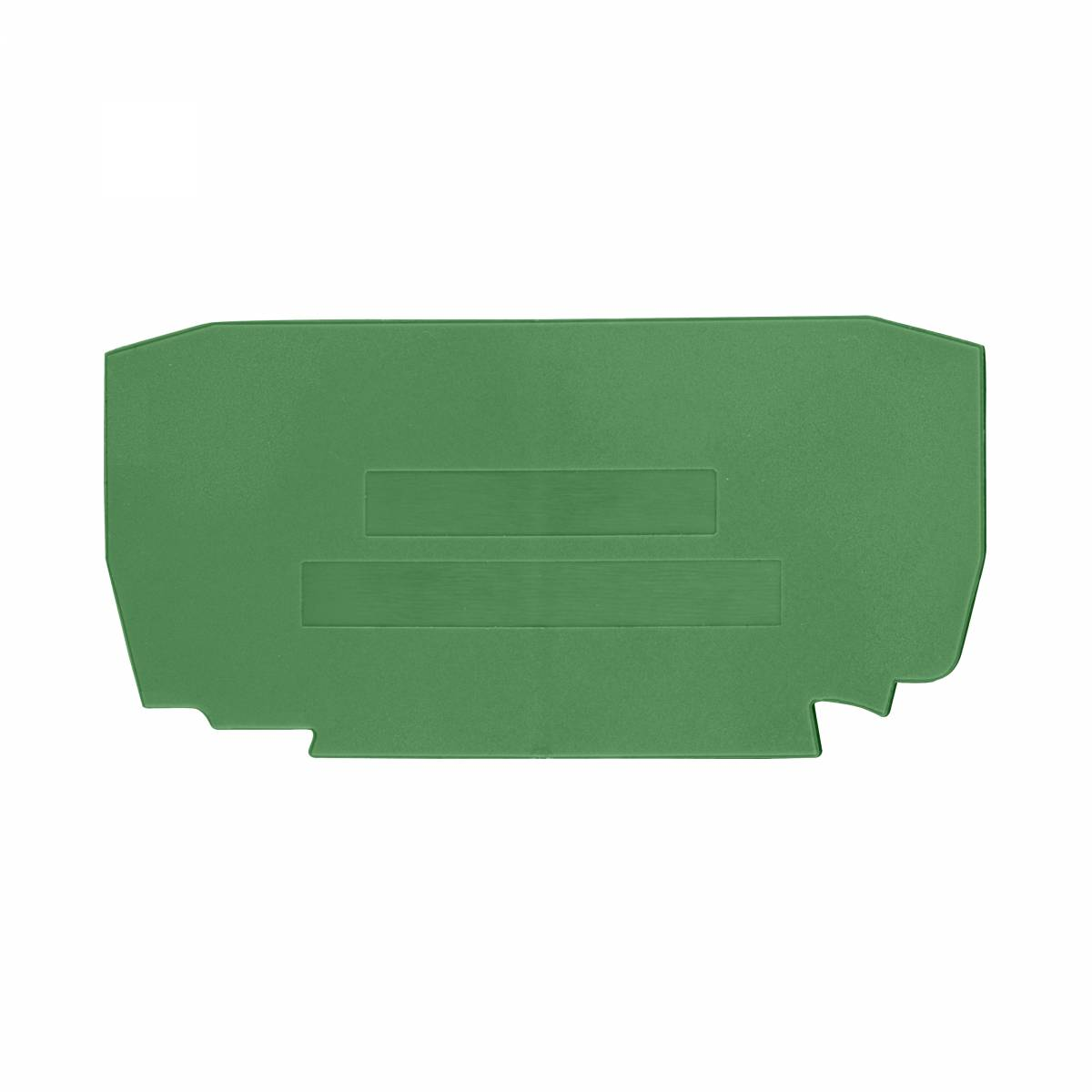 End plate for spring clamp terminal YBK 4 T green