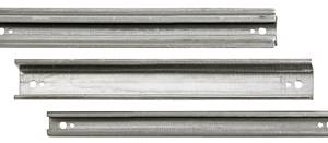 Aluminum H/C rail side wall, cable duct width 3