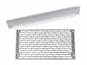 Mounting plate w. holes + seperator ILC2U 220x430x15 mm
