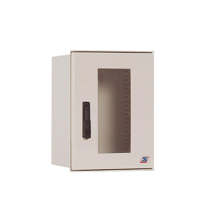Pol.Wall Encl., 3 point rod lock w. sw. handle 500x400x200SF
