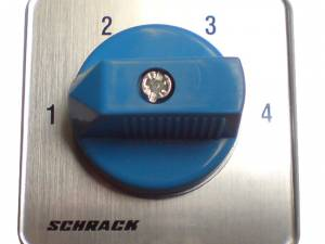 4 step Selector switch 2 pole, 20A, without 0 pos, 1-2-3-4