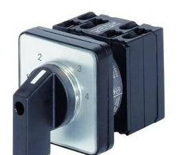 4 step Selector switch 3 pole, 20A, without 0 pos, 1-2-3-4