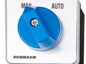 Change over switch w/o zero pos. 1 pole, 20A, MAN-AUTO