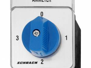 Am-Meter Selector Switch 20A, 0-1-2-3, Panel mounting