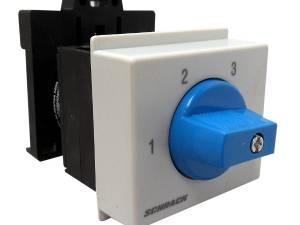 3 step switch, DIN-rail mounting, 2 pole, 20A, 1-2-3