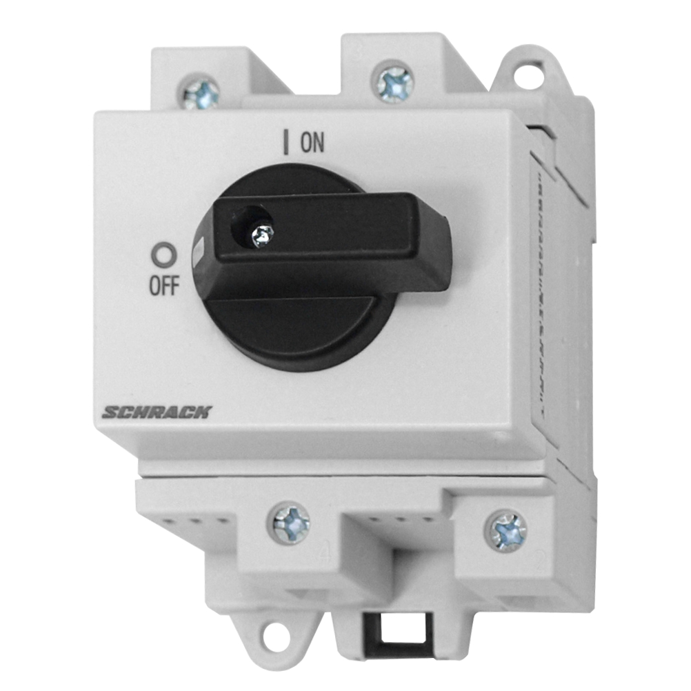 Main Switch 2p. 32A, 600VDC, DIN-rail mounted