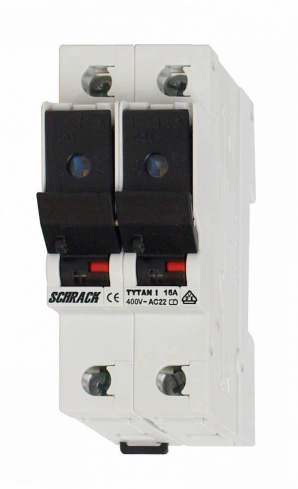 TYTAN I, D02-fuse-load-breaker, 2-pole