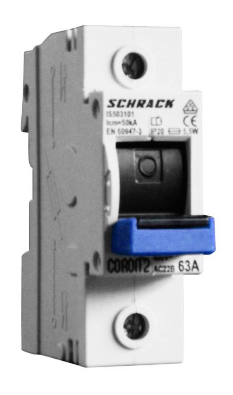 Fuse Loadbreak Disconnector, Coron 2, D02, 63A, 1 pole