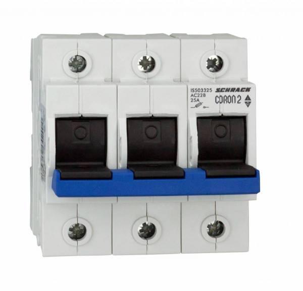 Fuse Loadbreak Disconnector, Coron 2, D02, 25A, 3 pole
