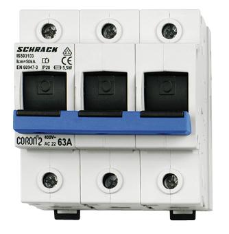 Fuse Loadbreak Disconnector, Coron 2, D02, 35A, 3 pole