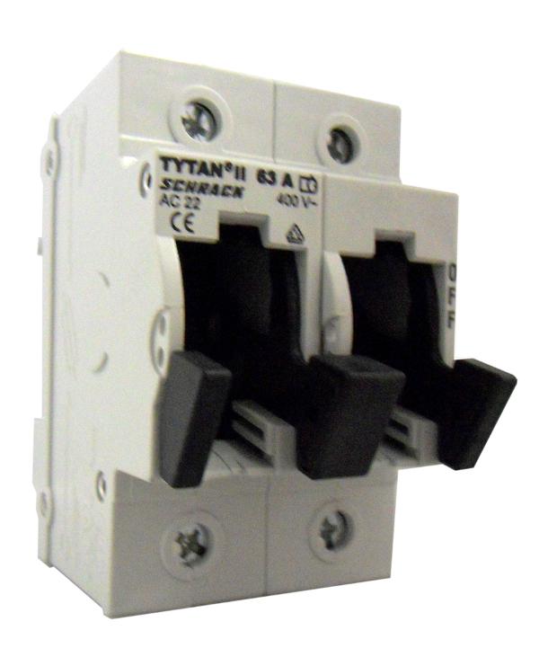 Fuse Loadbreak Disconnector TYTAN II, 2 pole, 63A, D02