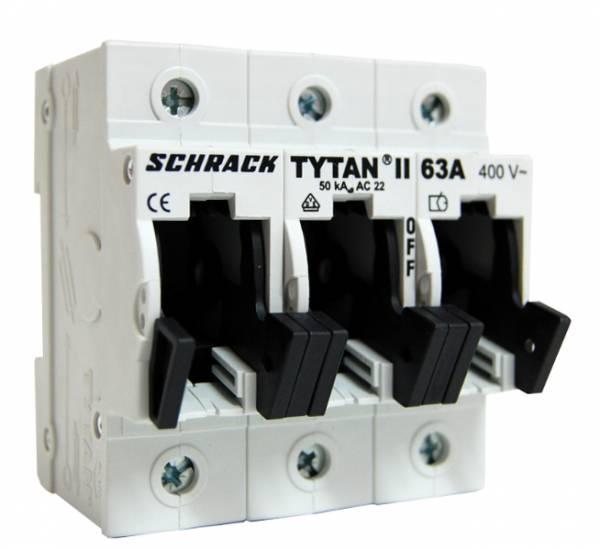Fuse Loadbreak Disconnector TYTAN II, 3 pole, 63A, D02