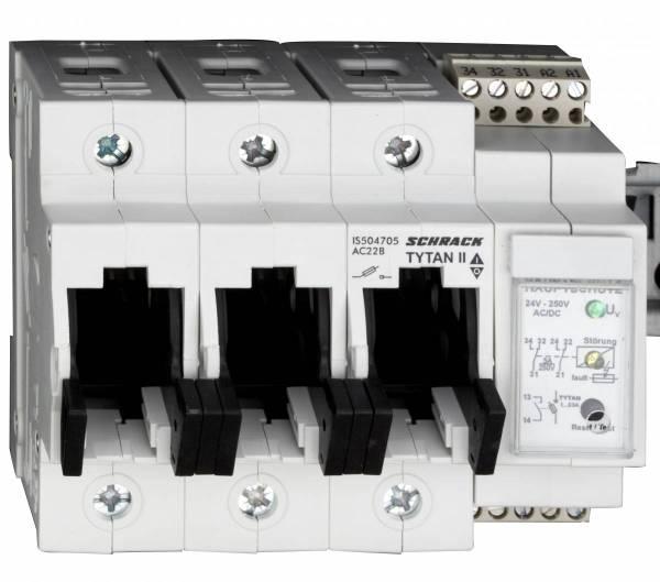 TYTAN II, 3 pole, 63A, D02 + fuse monitoring