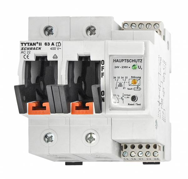 TYTAN II, 2 pole, 63A, D02 + fuse monitoring