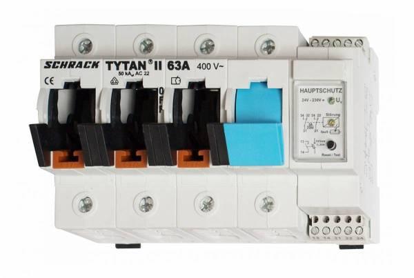 TYTAN II, 3 pole+N, 63A, D02 + fuse monitoring