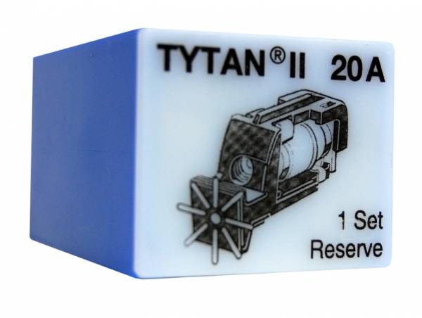 Fuse Plug for TYTAN II, 3 x 20A, D02, complete